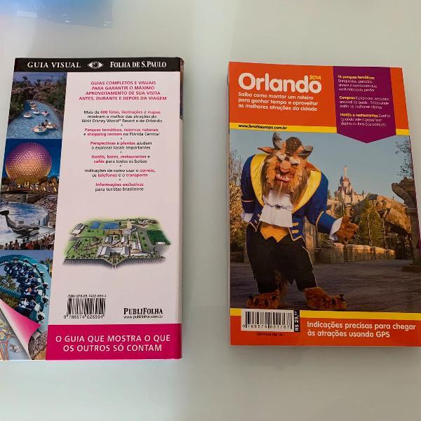 Dois livros guias de orlando flórida