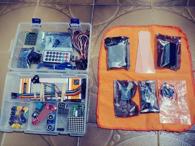 Master kit arduino - kit robótica com vários sensores