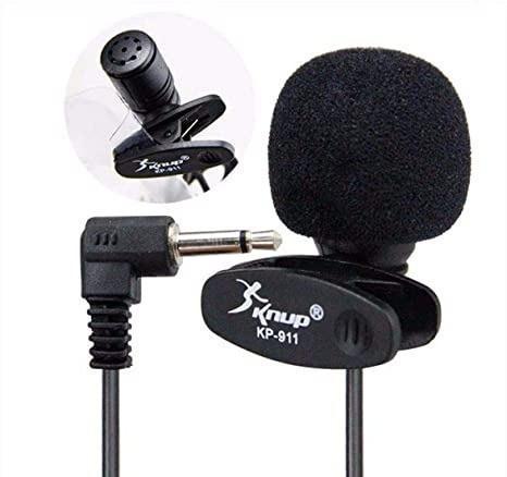Microfone de lapela pc notebook palestrante p2 plug