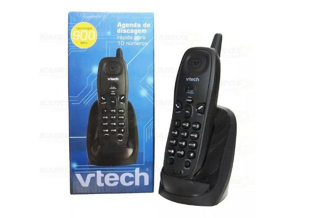Telefone sem fio vtech mod t2101 900mhz agenda 4 toques