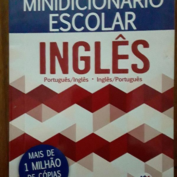 Mini dicionário de bolso português inglês inglês