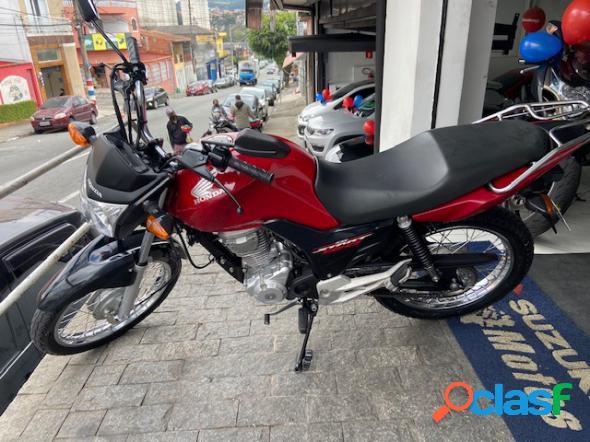 Honda cg 160 start vermelho 2017 160 gasolina