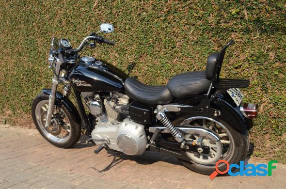 Harley-davidson dyna super glide preto 2009 1600 gasolina
