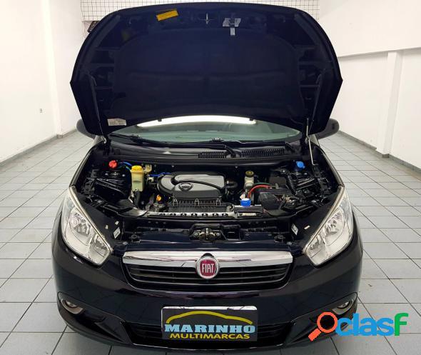 Fiat grand siena attractive 1.4 unico dono completo de fabrica baixa km preto 2014 1.4 flex