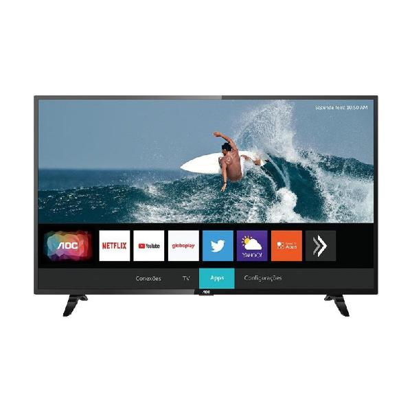 """Smart tv aoc 43"""" led full hd 43s5295/78g hdr wi-fi 2 usb 3"""