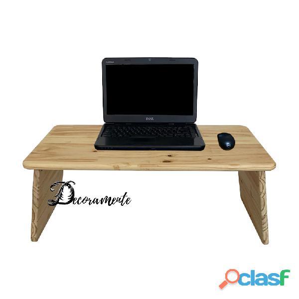 Suporte notbook mesa cama sofá madeira pinus