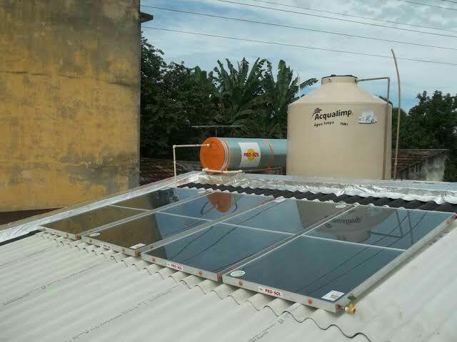 Aquecimento solar e a gas