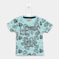 Camiseta infantil milon let's go manga curta masculina