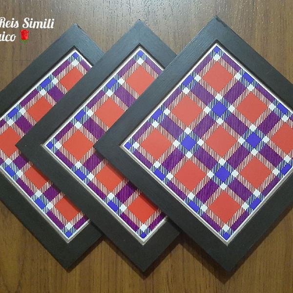 Conjunto de Descansos de Panelas em Azulejo