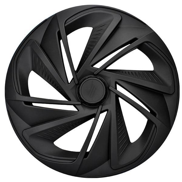 Jogo calotas esportiva nitro preto fosco aro 14 modelo lc218
