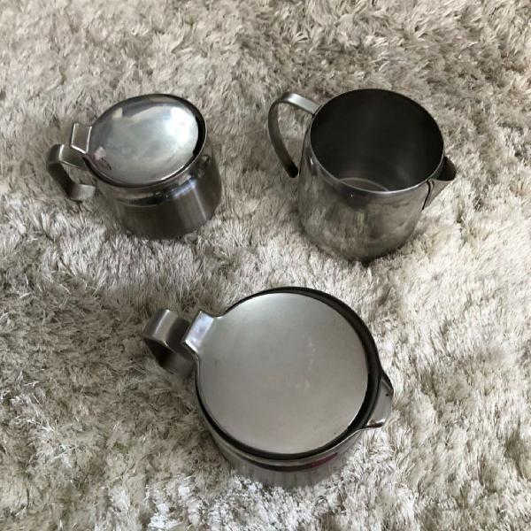 Jogo de chá aço inox