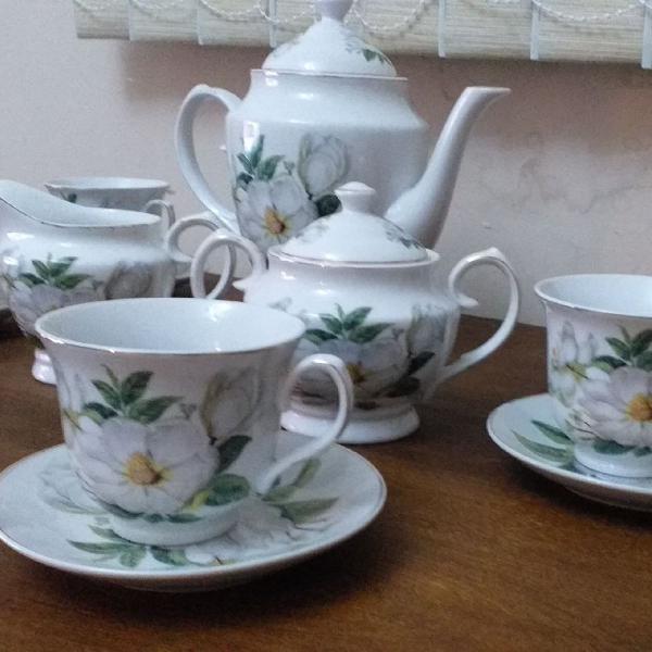 Jogo de chá porcelana