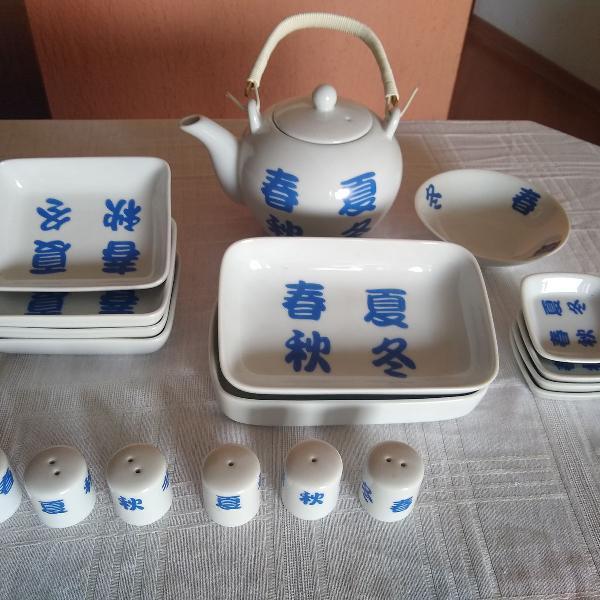 Jogo jantar oriental em porcelana schmidt