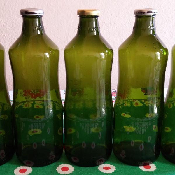 Lote garrafas vidro verde louro - 1,5 litros