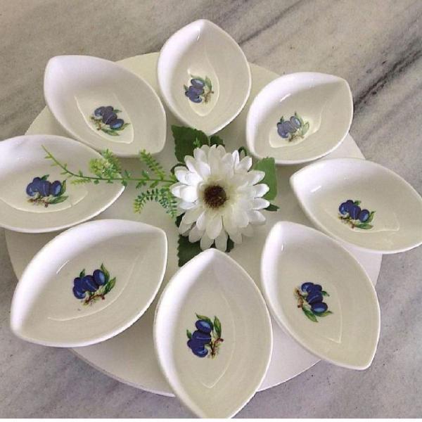Mini porcelana branca