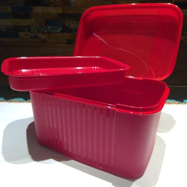 Promoção caixa organizadora tupperware