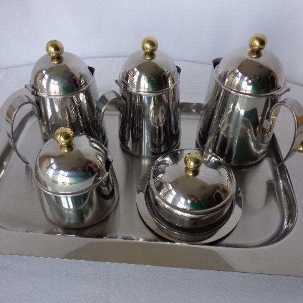 Baixela de chá/café em inox