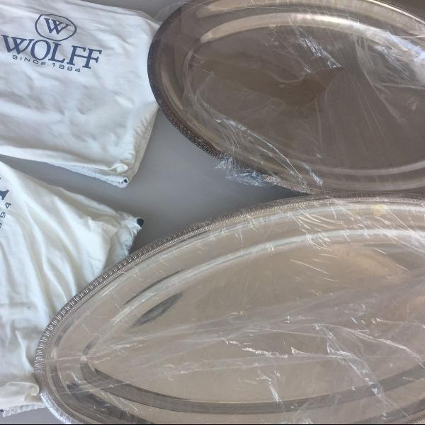 Baixelas travessas de prata wolff