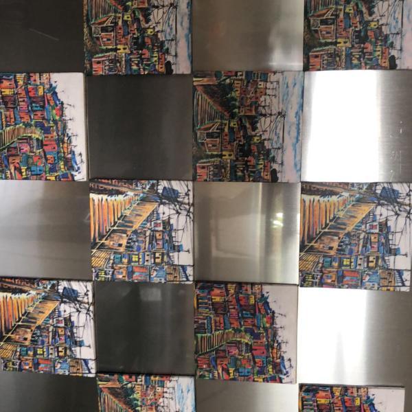 Conjunto 10 porta copos artesanais com ímã para geladeira