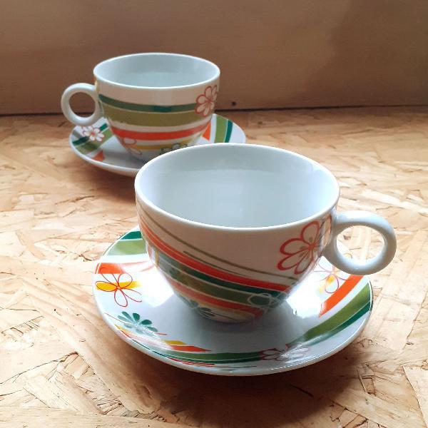 Conjunto xícara de chá