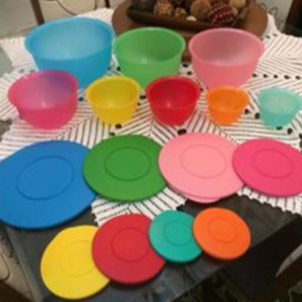 Kit 7 peças tupperware linha murano