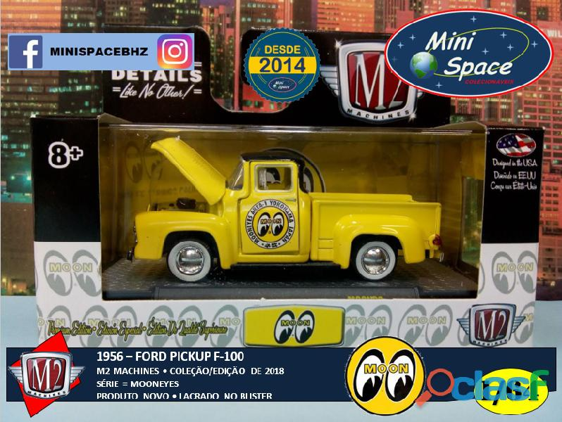 M2 Machines 1956 Ford F100 Pickup logo Mooneyes 1/64 1