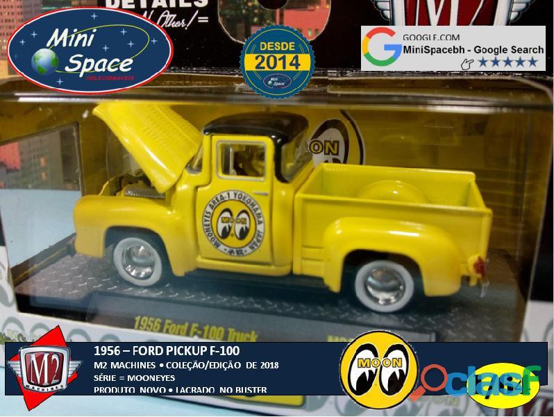 M2 Machines 1956 Ford F100 Pickup logo Mooneyes 1/64 2