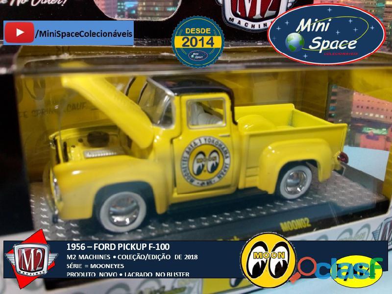 M2 Machines 1956 Ford F100 Pickup logo Mooneyes 1/64 3