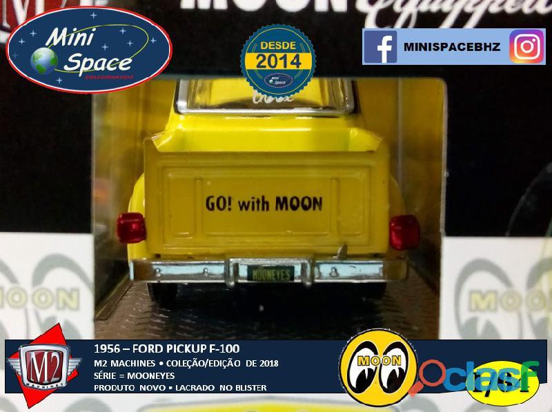 M2 Machines 1956 Ford F100 Pickup logo Mooneyes 1/64 4