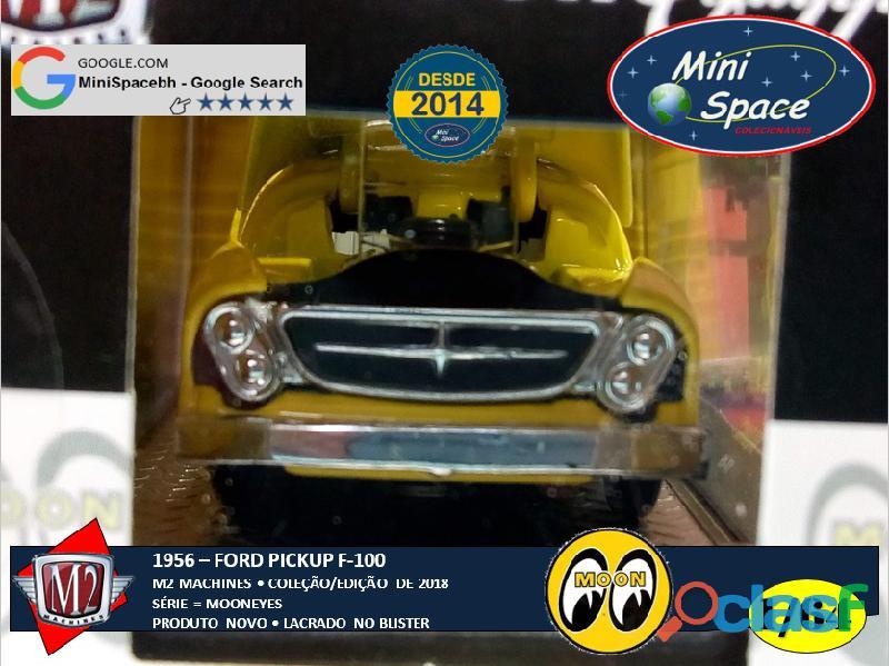 M2 Machines 1956 Ford F100 Pickup logo Mooneyes 1/64 5