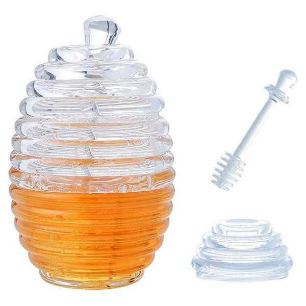 Porta mel meleira com pegador de acrílico