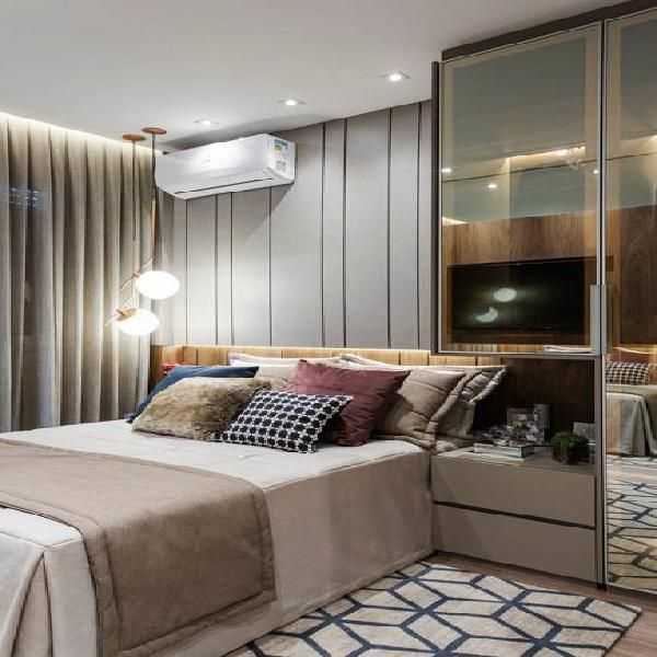 Apartamento de 69m², 3 quartos e 1 suíte, lazer completo