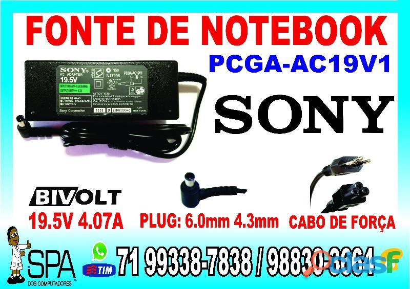 Carregador notebook sony pcga ac19v4 em salvador   ba