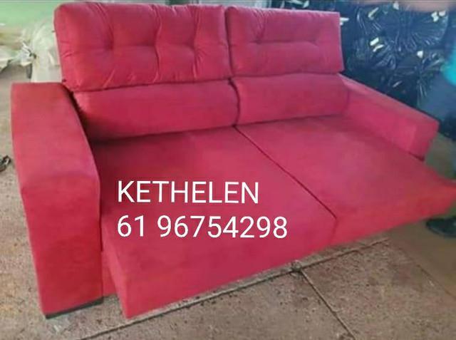 Imperdível sofá retratil e reclinável 2 mts referente a 3