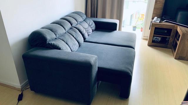 Sofá 3 lugares retrátil com encosto reclinável 550,00