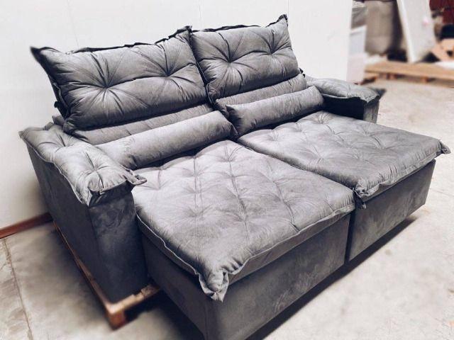 Sofá retrátil e reclinável ághata 2,30m