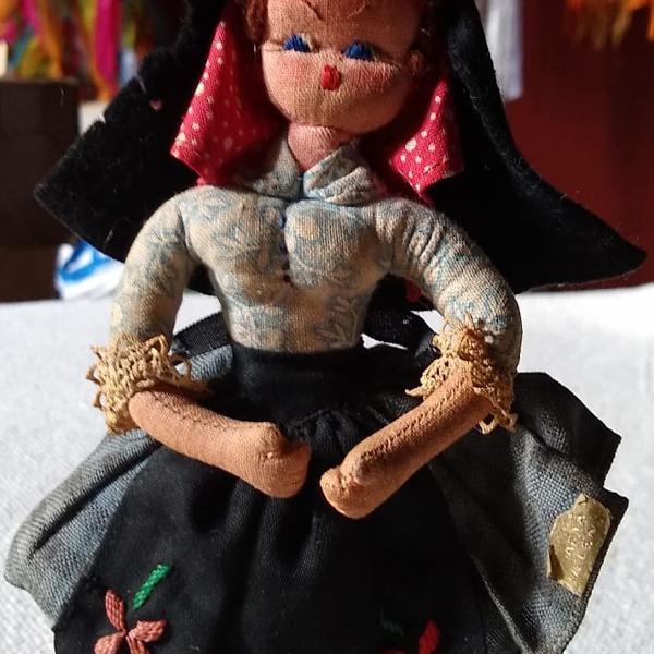 Boneca vintage ilha da madeira trajes típicos