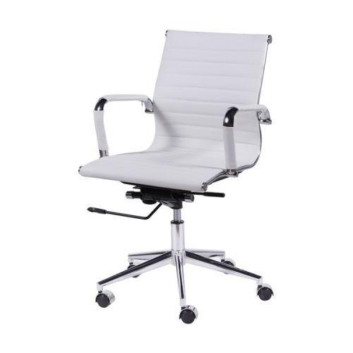 Cadeira Escritorio Tok Girat/u00f3ria Baixa Branca