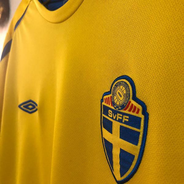 Camisa oficial suécia 2005/2006 umbro m