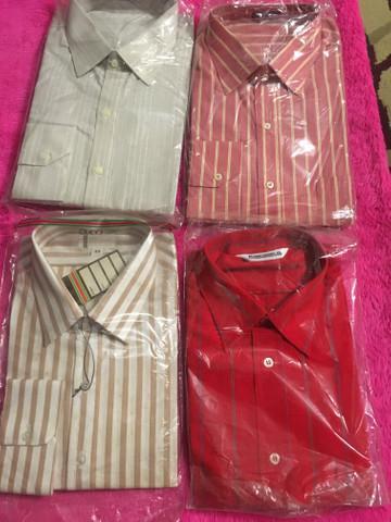 Camisas masculinas tamanhos 43 44 manga comprida número 3
