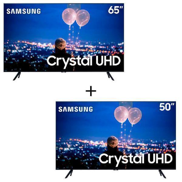 "Combo TV Samsung 50"" 4K UN50TU8000 + TV Samsung 65"" TU8000"
