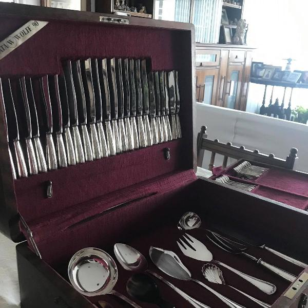 Conjunto mais de 100 peças prata legítima alemã wolff