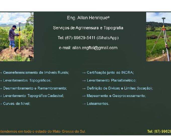 Eng. allan henrique - topografia e ambiental