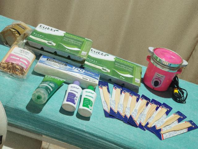 Kit de depilação completo, aceito cartão!