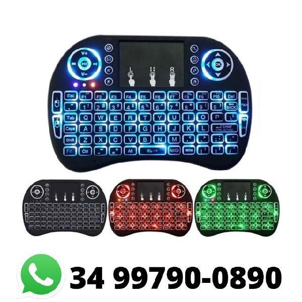 Mini teclado smart sem fio iluminado