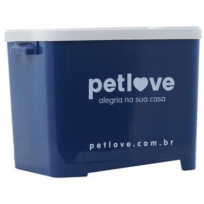 Porta ração petlove azul escuro - 15 kg