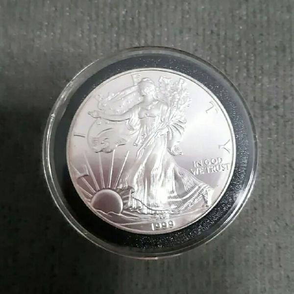 Usa American Eagle 1999 1 Oz de Prata Pura .999