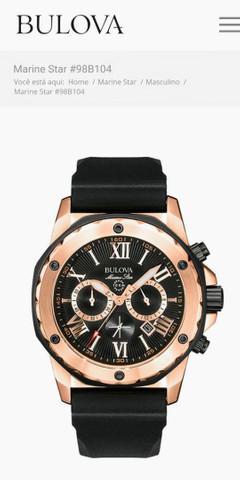 Vendo relógio bulova marine star