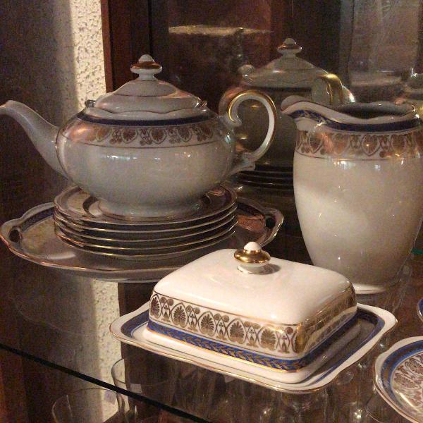 porcelana polonesa - jogo para chá e bolo