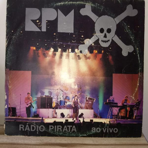 Vinil r p m rádio pirata ao vivo 1986 com encarte.